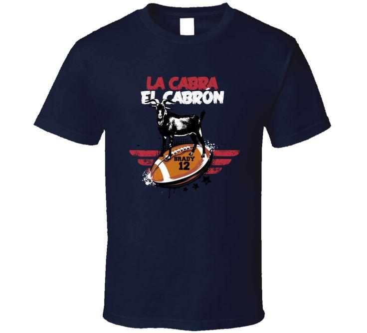 Tom Brady Goat Cabra New England Football Fan T Shirt