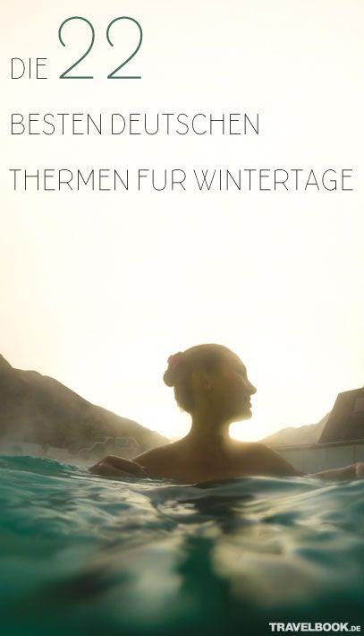Draußen ist es kalt, es wird früh dunkel und wir sehnen uns vor allem nach einem: Wärme. Wer nicht das Glück hat, seinen Winterurlaub in der Sonne und bei milderen Temperaturen verbringen zu können, kann sich auch in Deutschland wunderbar aufwärmen und neue Energie sammeln: in einer der vielen schönen Thermen des Landes.