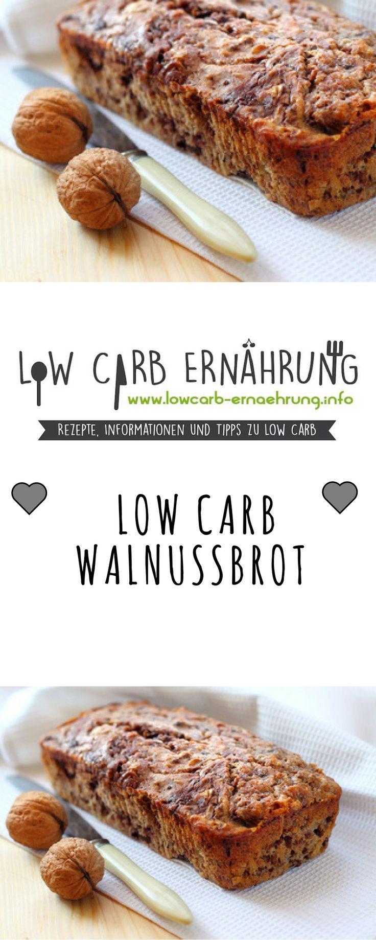 Low Carb Rezept für leckeres kohlenhydratarmes Walnussbrot. Low Carb und einfach und schnell zum Nachbacken. Perfekt zum Abnehmen.