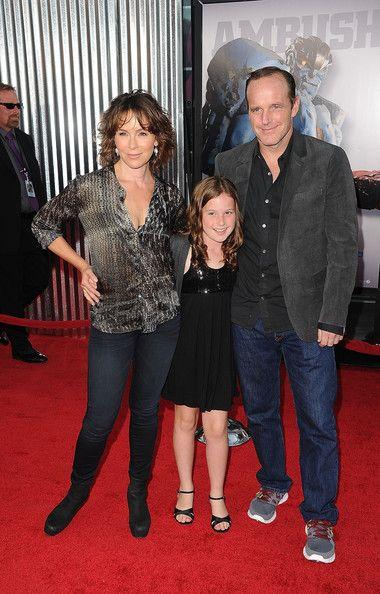 """Jennifer Szary Jennifer Grey, maz Clark Gregg, Córka i udział w """"Real Steel"""" w Los Angeles wag Gibson Amphitheatre w dniu 2 Października 2011 ..."""