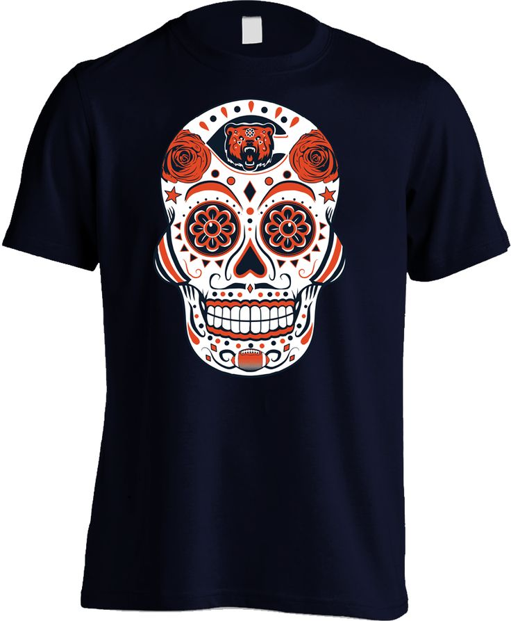 Chicago Football Sugar Skull - Mens