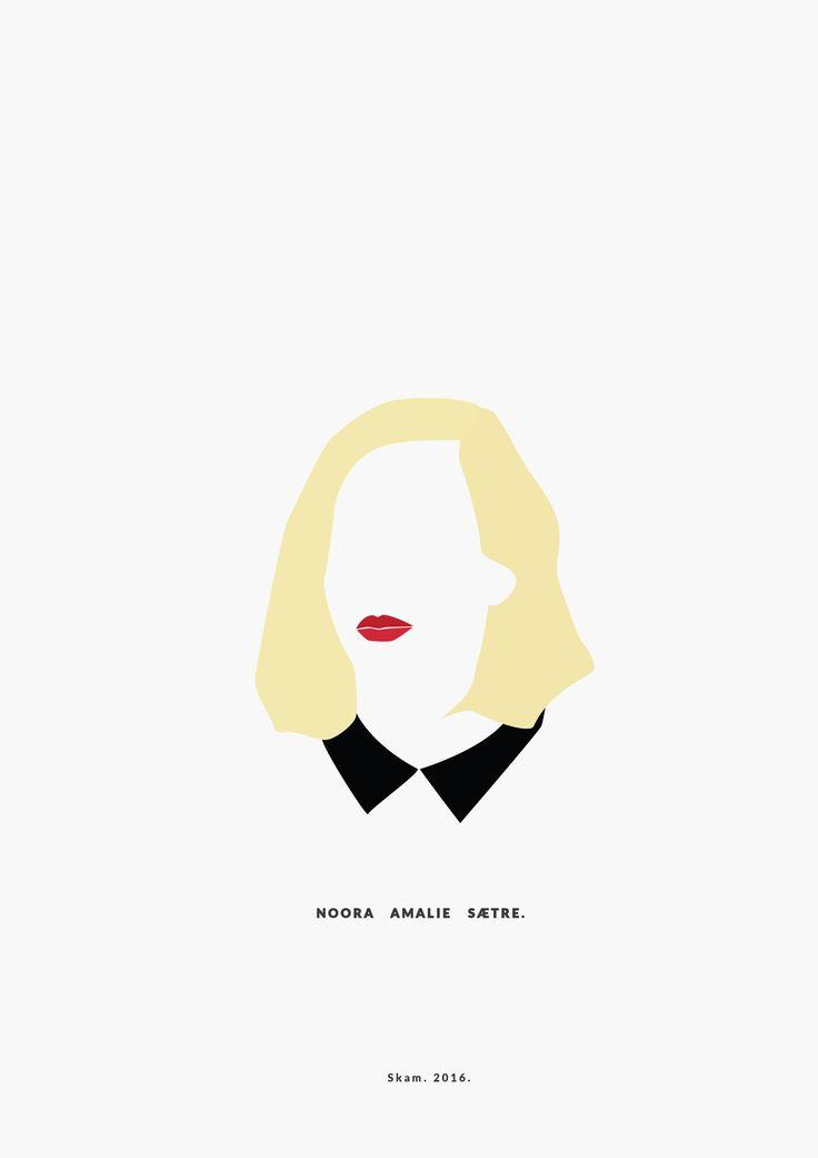 Noora Amalie Sætre. SKAM. 2016. __________minimal project - (Part One) IG https://www.instagram.com/brbrgraphics/
