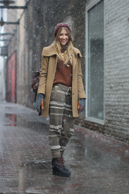Chicago's Best Winter Street Style In 25 Chic Snaps! #refinery29  http://www.refinery29.com/26456#slide25  Chelsea Lavin of eDrop-Off came out to see us in a pair of Charlotte Ronson pants we'd wear all winter. She's smartly paired them with a great Rag & Bone heel to keep the outfit from looking too casual. This look is must-copy.   Photographed by Amy Creyer