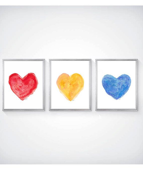 Playroom Art Primary Color Nursery Art Set by OutsideInArtStudio
