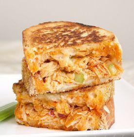 DOUGLICIOUS: Buffalo Chicken Grilled Cheese Sandwich