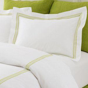 Trio Green Flat Sheet | Pine Cone Hill