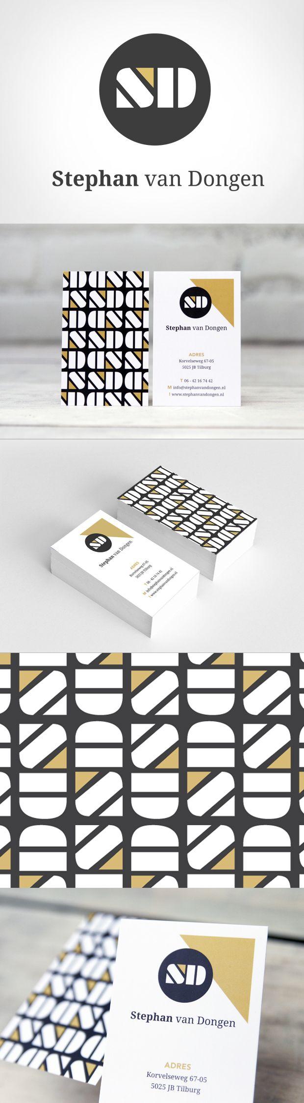 Stoer logo, moderne huisstijl in zwart en goud.