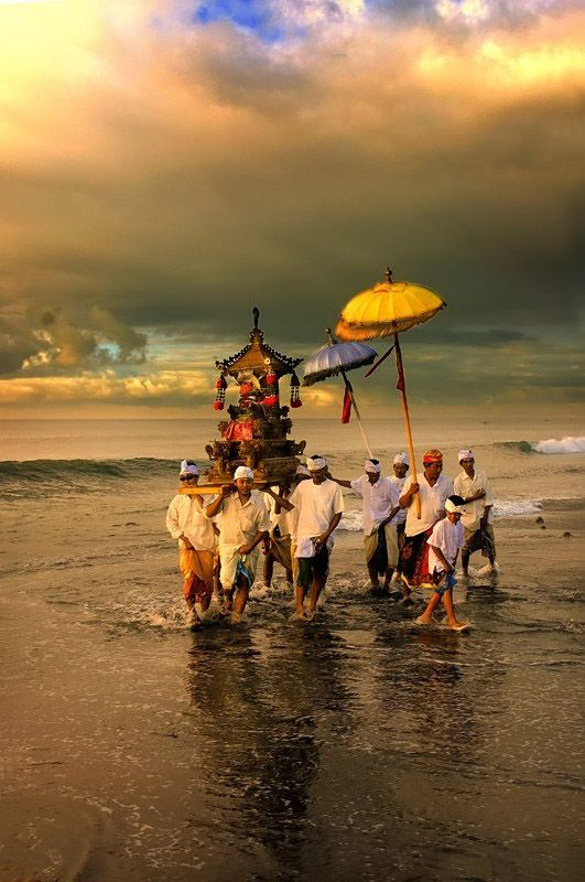A ceremony in Bali that has to be performed near water 3 days before a New Year. It washes away the impurities of the past..