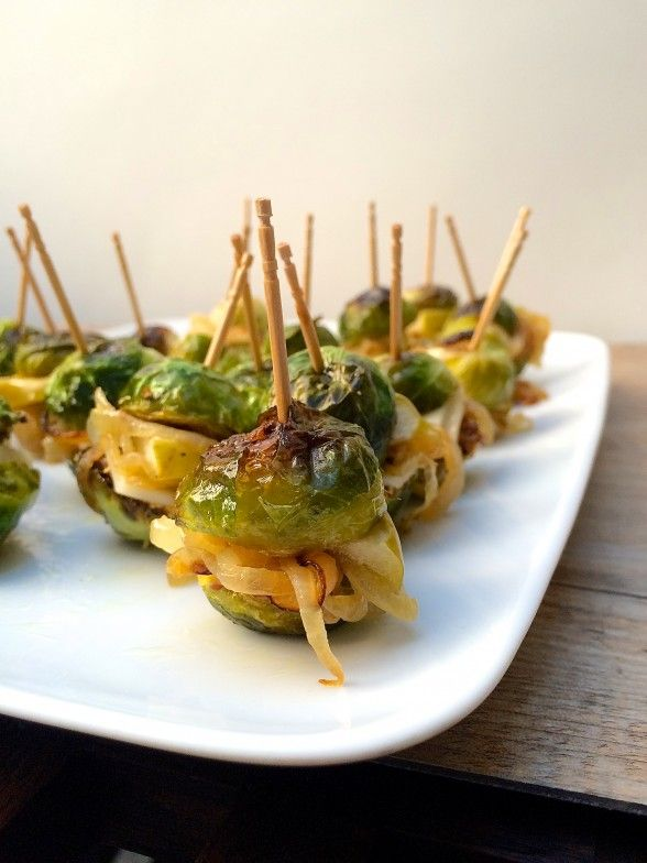 Brussel Sprout Sliders                                        Use vegan cheese, or choose a spread like pesto, roasted red pepper/roasted garlic hummus or an avocado w/ fresh lime juice & zest w/ a pinch of cayenne pepper. Lots of ideas work here. See other boards with butters & spreads, cheeses & gravies & sauces.Monica