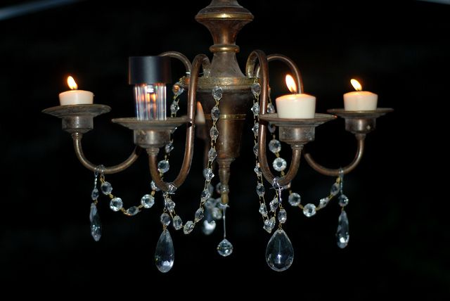 outdoor chandelier with solar bulbs