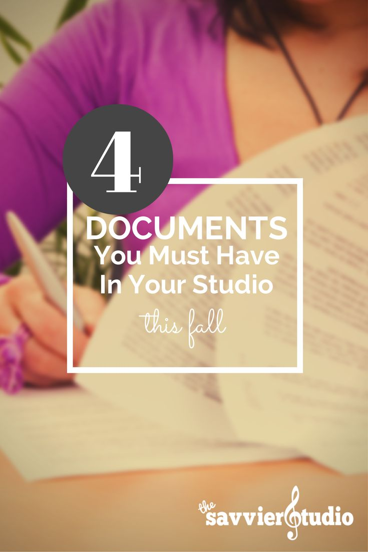 Want to set your studio up for a successful run this year? Then make sure these 4 documents are ready to go. // NEWLY UPDATED: You can now get the FREE download of the student registration form I use every year! Love getting this info from my students. It helps me teach them so much better!