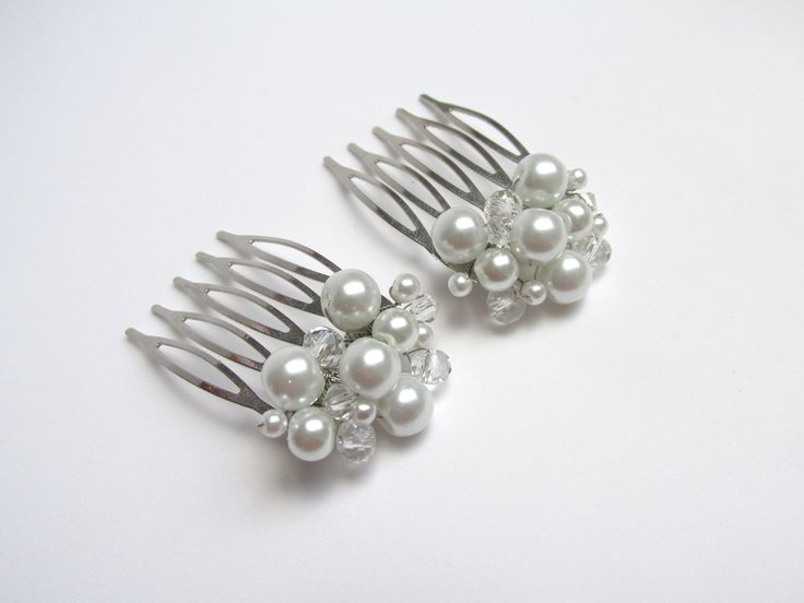 Hair accessories with pearls and crystals Can be ordered here: https://www.facebook.com/handmadebutic