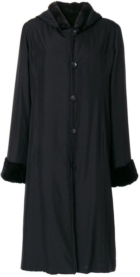Liska hooded fur lined coat