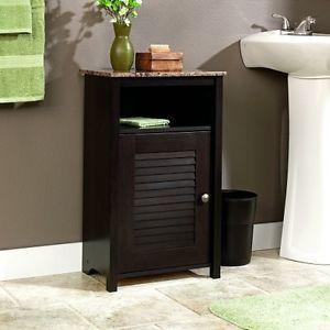 Cabinet-End-Table-Night-Stand-Bathroom-Living-Bedroom-Storage-Shelf-Faux-Granite