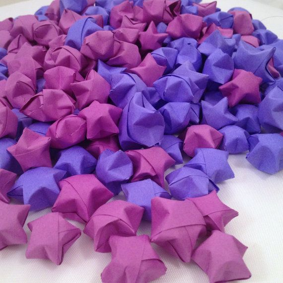 Wedding Gift Superstitions: Origami Lucky Stars Wedding Favors Confetti - any color - sets of 100.