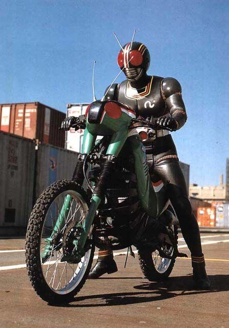 Kamen Rider BLACK on Battle Hopper