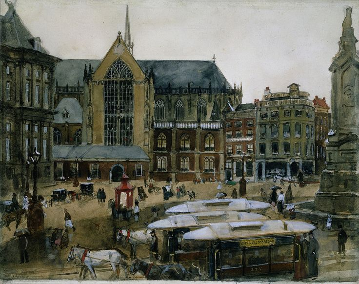 Georg Hendrik Breitner (Dutch, 1857-1923)  Gezicht op de Dam, Amsterdam