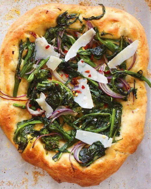 Broccoli Rabe Pizza with Hazelnut Dough Recipe