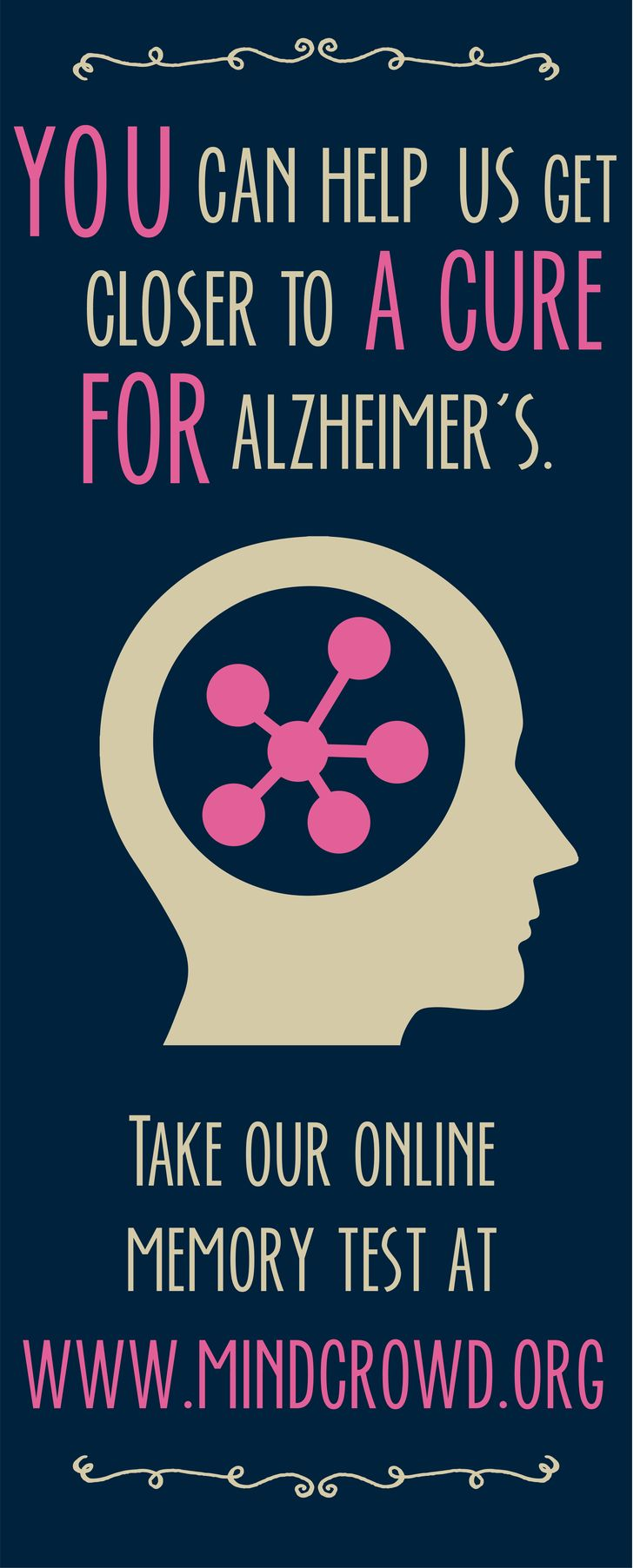 Want to help us get closer to a cure? Go to mindcrowd.org and take our ten minute online memory quiz. The results are used to fuel vital Alzheimer's research and you'll get information on how your brain stacks up against other test-takers! | #mindcrowd #tgen #alzheimers www.mindcrowd.org
