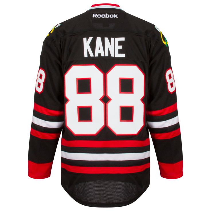 Chicago Blackhawks Mens Black Alternate Patrick Kane Premier Jersey by Reebok #Chicago #Blackhawks #ChicagoBlackhawks #PatrickKane #Kane #Kaner