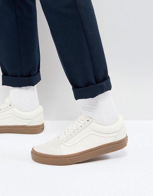 c44d615ae2a82d Vans Old Skool Sneakers In White VA38G1QW3