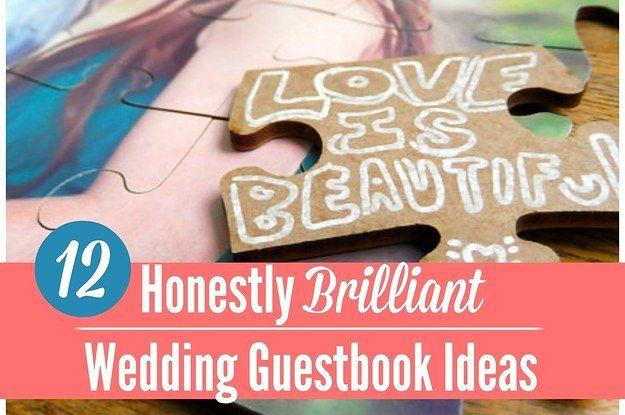 12 Honestly Brilliant Wedding Guestbook Ideas ^