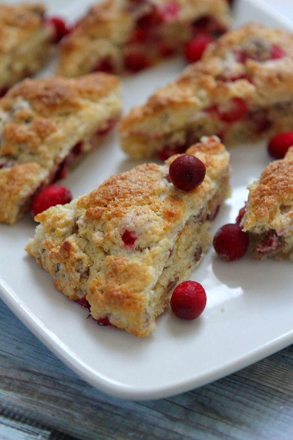 Cranberry Orange Scones #recipe - RecipeGirl.com