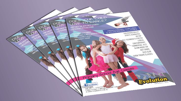 A5 dance flyers for primary school kids