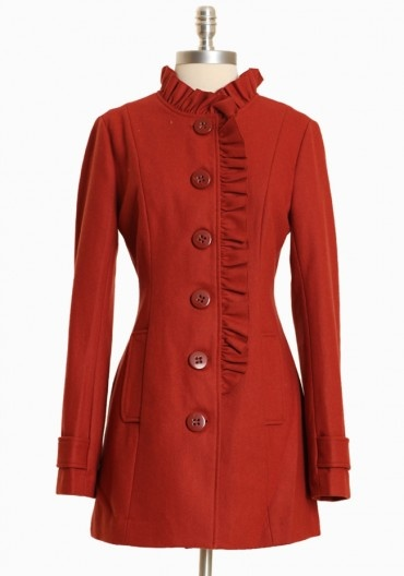 Pacific Line in Sienna Peacoat by Tulle, this is so very pretty! Love the color, big buttons and ruffle details, so ooh la la! Makes me want to go to Paris! $80Sienna Peacoats, Ruffles Details, Fashion, Red Peacoats, Buttons Tabs, Favorite Peacoats, Trench Coats, Red Coats, Ruffles Peacoats