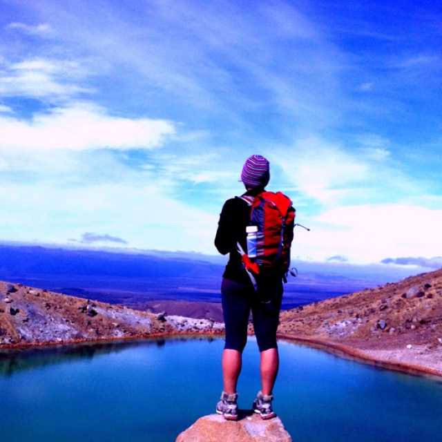 Blue Lake at Tongariro crossing, Nea Zealand.