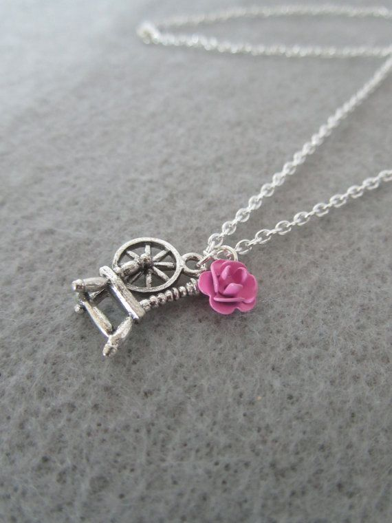 Remember the day with this Briar Rose (sleeping beauty) Necklace by WithLuvLulu on Etsy, - [It may or may not be there - it' Etsy - but try!]