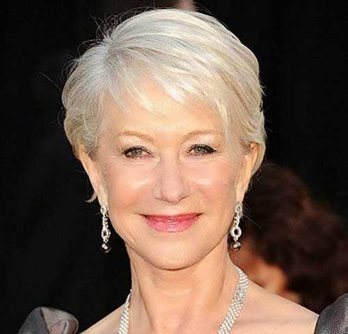Grey Fine Pixie Hair Ideas for Women Over 50