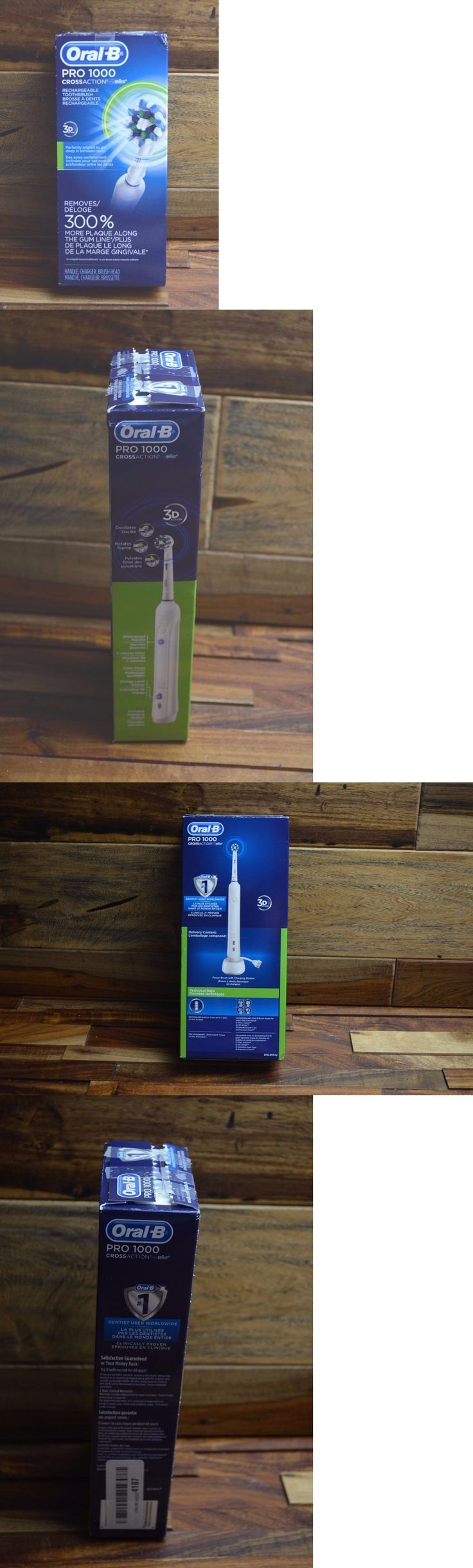 Electric Toothbrushes: Oral B By Braun Pro 1000 Cross Action 3D Rechargeable Toothbrush New Open BUY IT NOW ONLY: $32.5
