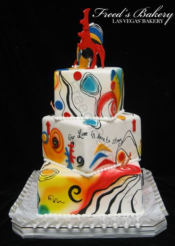 181 best GeometricAbstract Cakes images on Pinterest Cake wedding