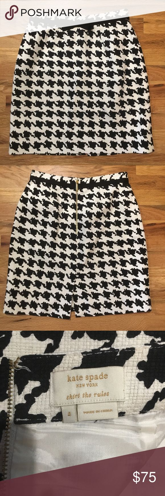 Kate Spade skirt - size 4 - only worn once Kate Spade Skirt the Rules Skirt in great condition. Only worn once. Size 4 kate spade Skirts Mini