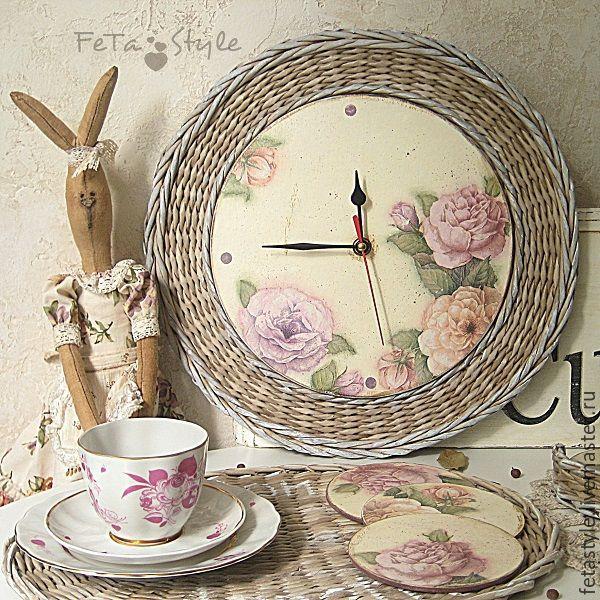 """Купить Часы настенные кухонные """"Mon jardin"""" - часы, часы настенные, часы…"""