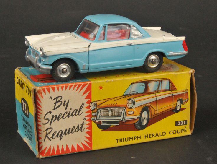 Corgi Toys #231 Triumph Herald coupe car