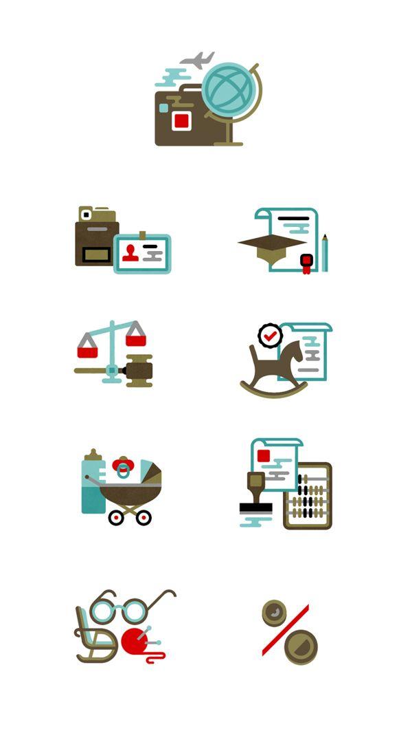 Magazine website iconset by Anton Shineft / Flat icon design / #flat #icon #design