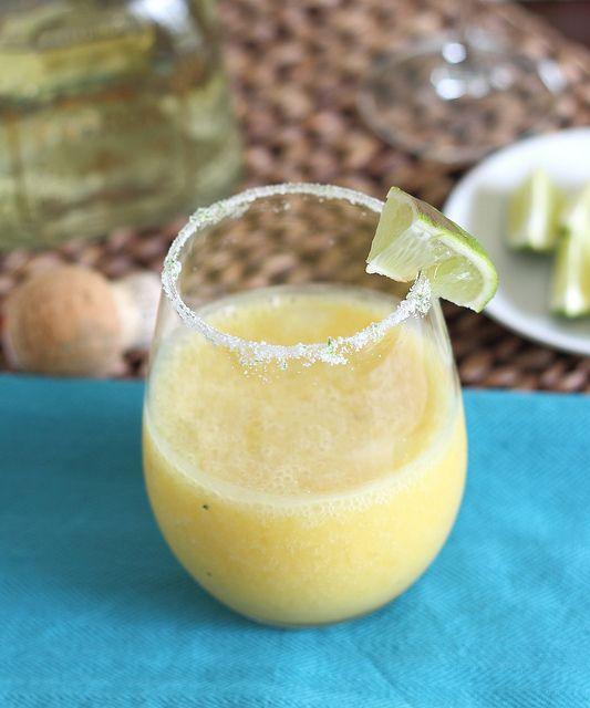 Sounds yummy! Mango Coconut Margarita  by Runningtothekitchen, via Flickr