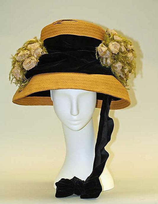 hat, by Lichtenstein Millinery Company, 1909-10. Metropolitan Museum of Art, C.I.41.7.1