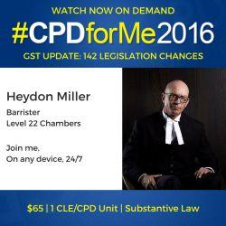 #auslaw $65 Property & GST UPDATE @heydondm http://bit.ly/GST-Update @CPDforMe 1 CPD unit
