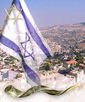 Forever will this flag fly over His Promised Land Israel.