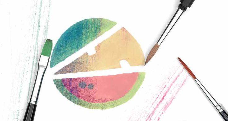 Watercolor logo idea - by Marta Olszewska