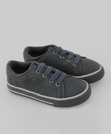 Take a look at this Navy Faux Leather Sneaker by Launch on #zulily today!