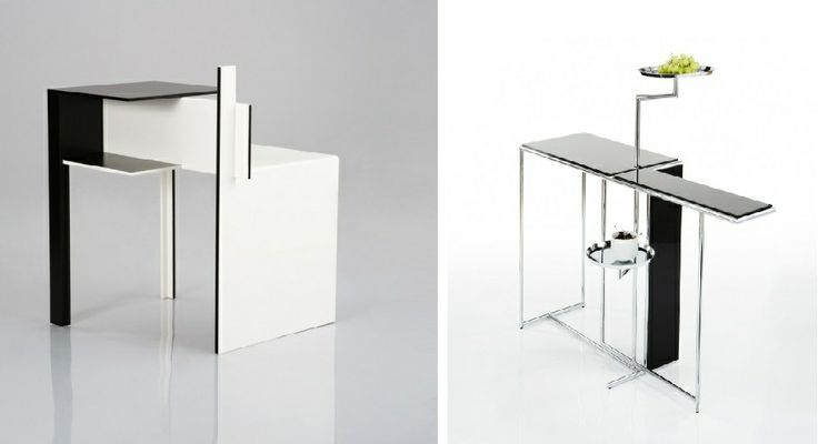 I found Eileen's Rivoli and De stijl tables very interesting. I really like the technical design she used to create these tables. The pattern designs I draw resemble this unique style.