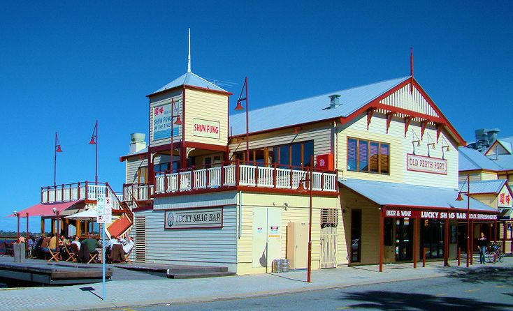 'Lucky Shag Bar', Old Perth Port, Perth, WA.