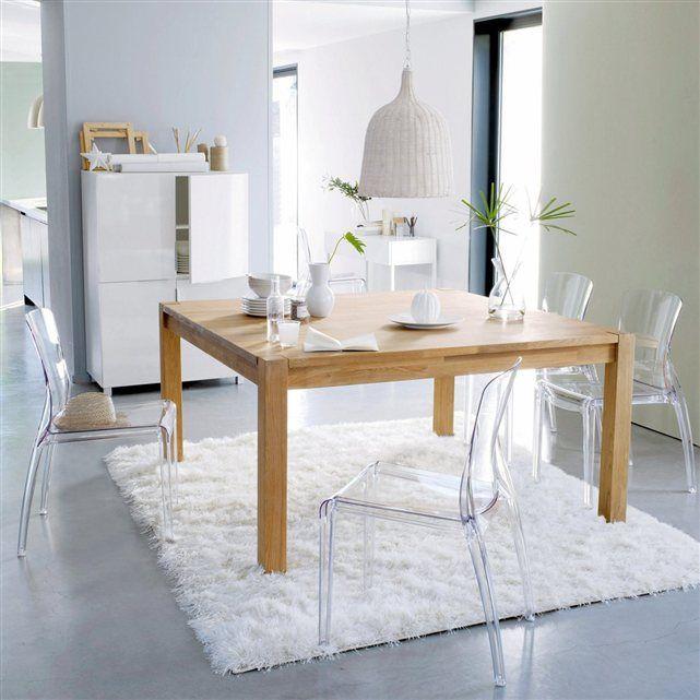 Table carrée, chêne massif, 8 couverts, Adelita La Redoute Interieurs | La Redoute Mobile