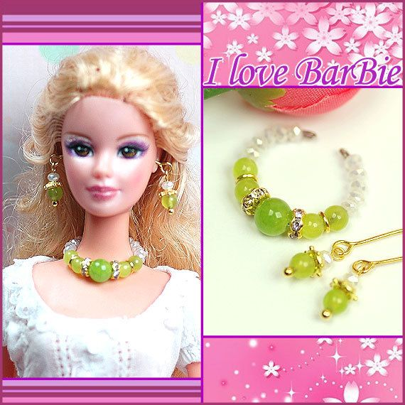 barbie doll jewelry set barbie necklace and earring for by sinogem