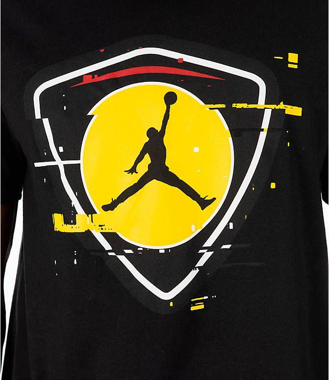 Detail 1 View Of Men S Jordan Sportswear Aj14 Last Shot T Shirt In Black Gold Jordan Logo Wallpaper Jordans For Men Graphic Tshirt Design Best of gold jordan logo wallpaper for