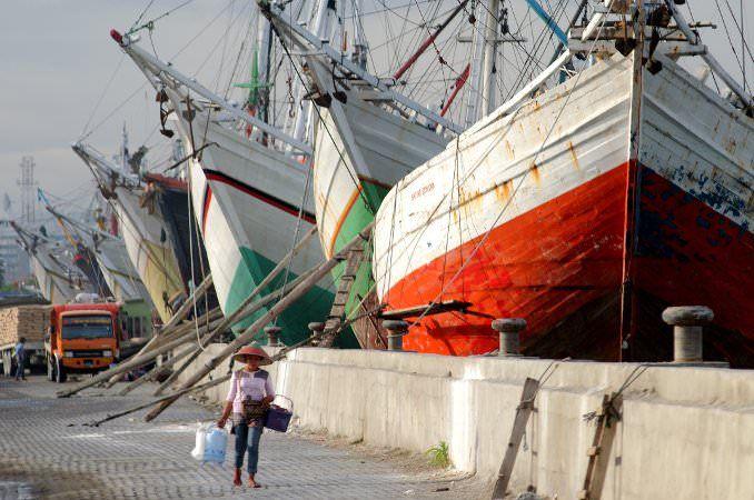 Pinisi schooners in Sunda Kelapa, Jakarta, Indonesia